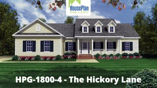 Hpg-18004-1 1,800 Sf, 3 Bed, 3 Bath Country House Plan By House Plan Gallery