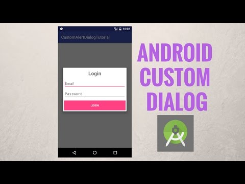 Android custom dialog - Create Android Alertdialog with a custom layout