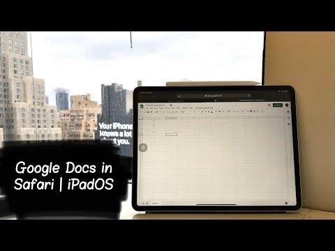Full Desktop Google Docs Experience On IPad Pro With IPadOS