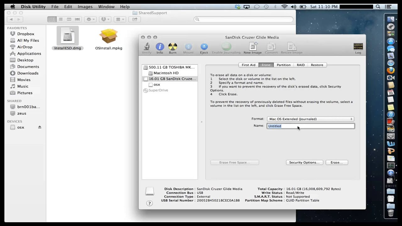 How to Create a Bootable Mountain Lion OS X 10 8 USB Flash Drive