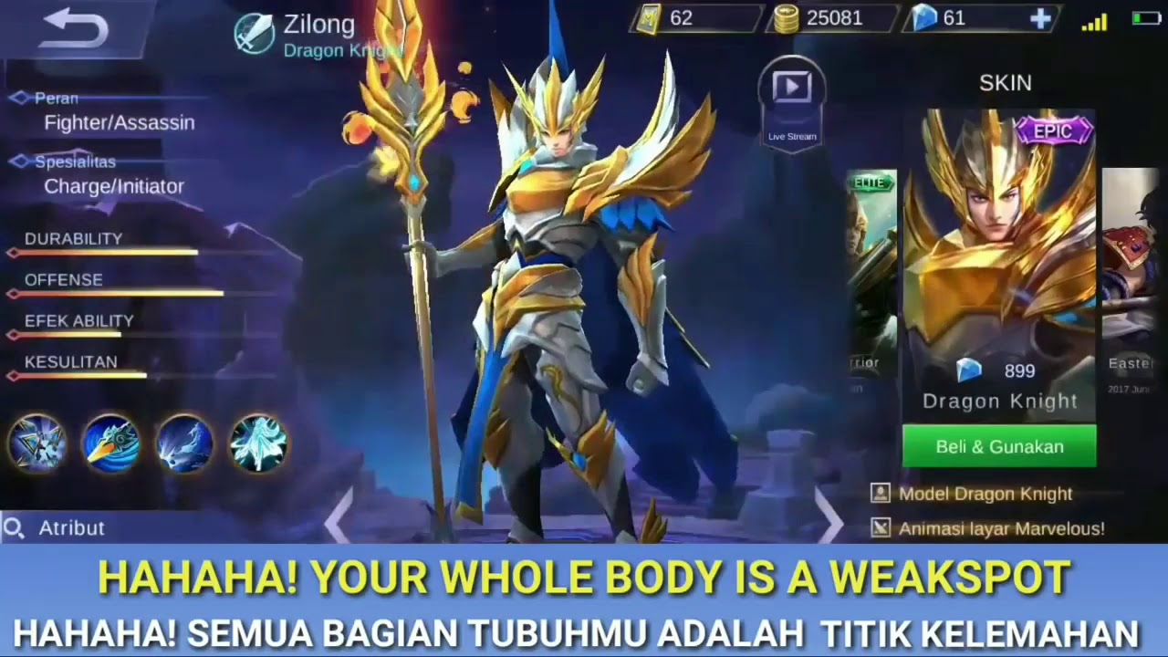 Arti dari kata kata Hero assasin di mobile legends   YouTube
