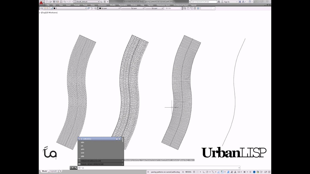 Auto Cad Floor Plan 4 Autocad Commands To Draw Paving Patterns On Curving