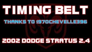 2002 Dodge Stratus 2 4 Timing Belt