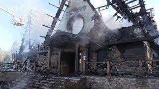 В Казани сгорел дотла известный ресторан