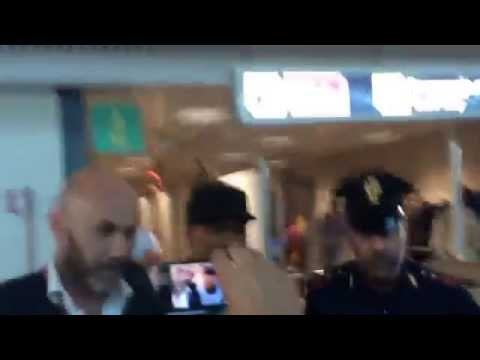 Emanuelson arriva a Fiumicino, 10.07.14