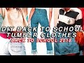 DIY BACK TO SCHOOL CLOTHES 2018! DIY tumblr inspired clothes back to school 2018