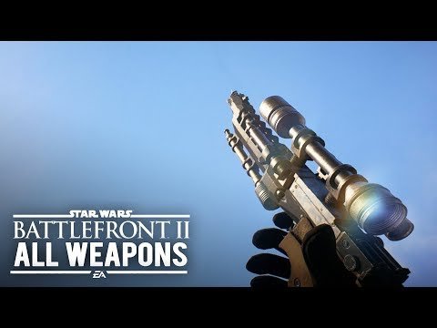 Star Wars Battlefront 2 - ALL WEAPONS AND GADGETS (All Class Weapons/Hero Weapons/Villain Weapons)