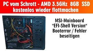PC vom Schrott - AMD 3.5GHz 8GB SSD - kostenlos in 15min reparieren - EFI Shell Version - [4K]