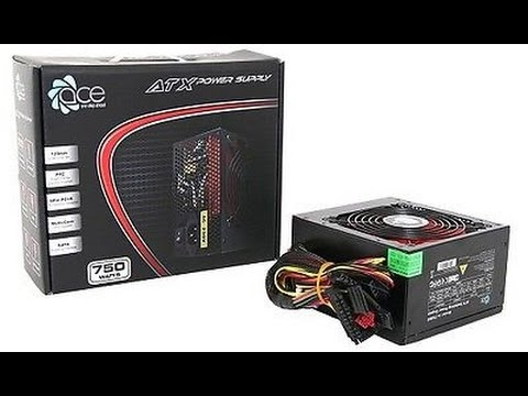 My ACE ATX 750 Watts Power Supply Unit Review - YouTube