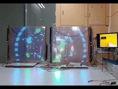 Transparent LED Film display solution ( color version demo video 2 )