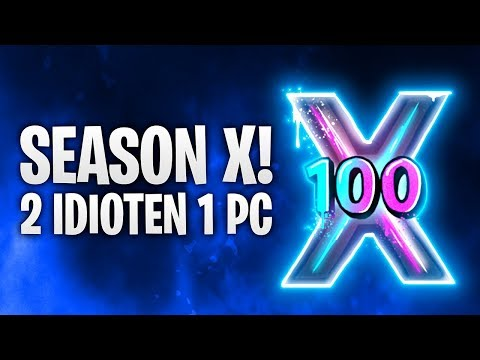 SEASON X! 2 IDIOTEN 1 PC! 🔮   Fortnite: Battle Royale