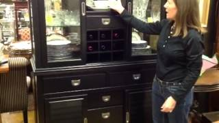 China Curio Cabinet, Waterford Crystal, & Antique Spode China From Florida Estate Buy.