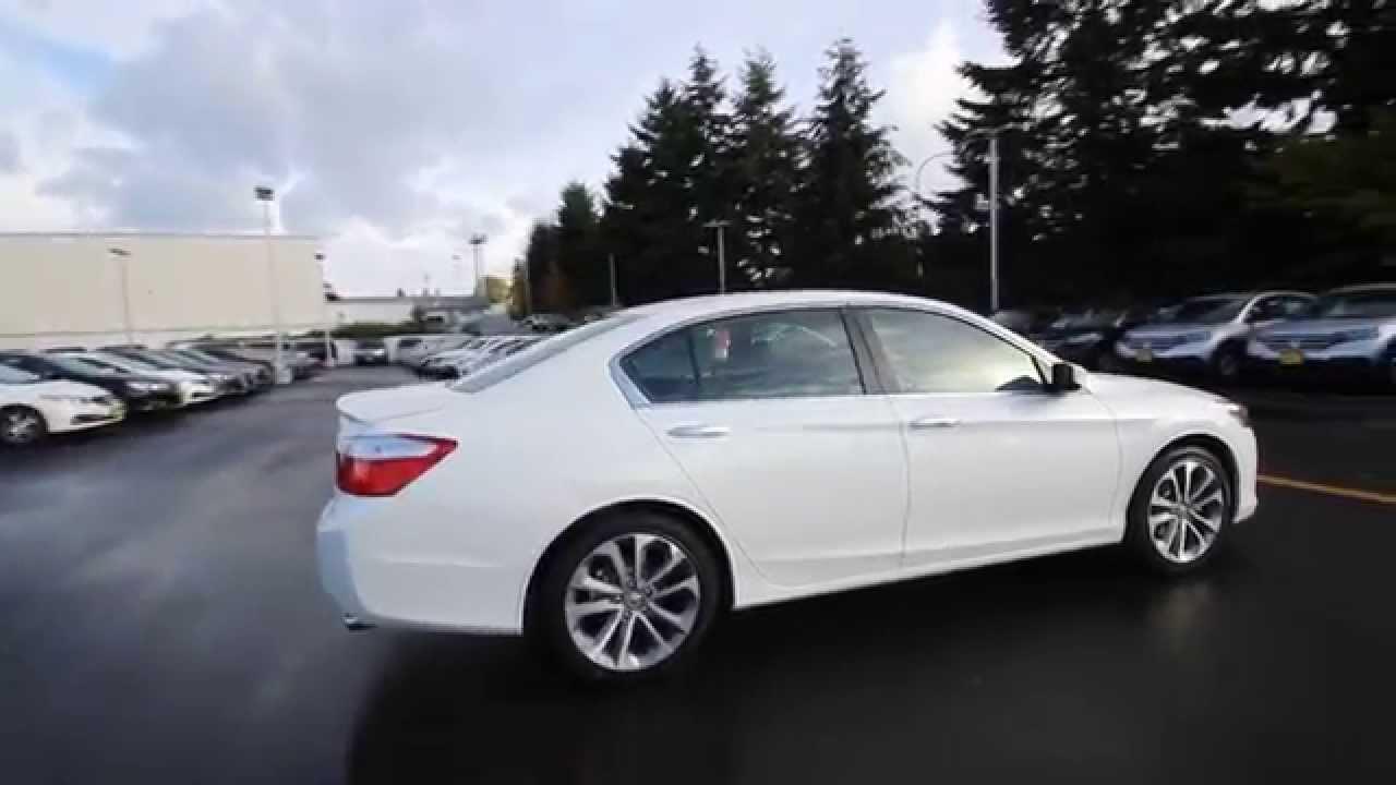2015 Honda Accord Sport | White Orchid | FA020473 | Seattle | Renton    YouTube