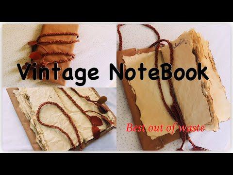 Vintage journal DIY/ VINTAGE NoteBook/ Best out of waste