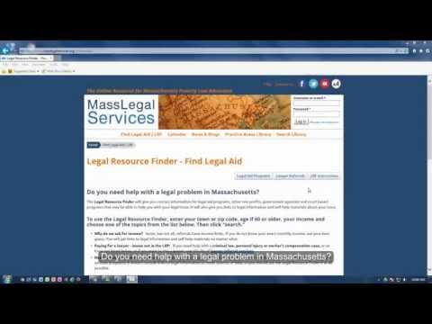 Using the Massachusetts Legal Resource Finder