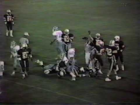 Ware Shoals High School (28) vs Christ Church (12) Football Game From 1986