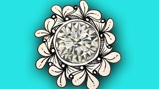 How to draw a Diamond April Birthstone Doodle Gem Tutorial ep 51