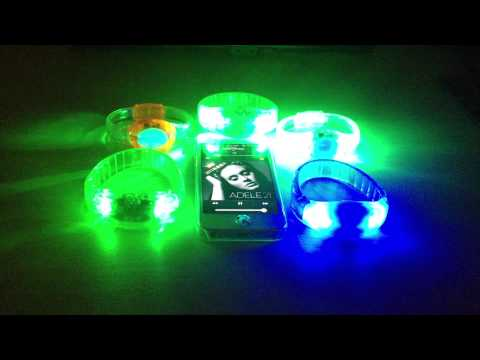 Rfid Wireless Remote Controlled Led Bracelets Light Up