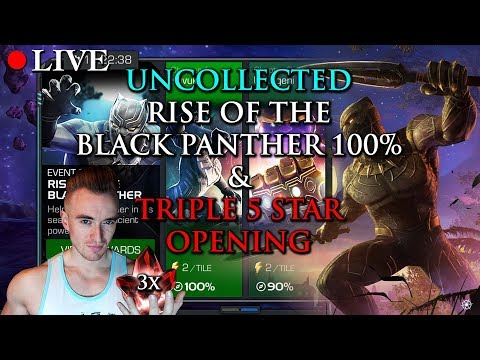 LIVE: Uncollected - Rise of the Black Panther 100% & Four 5 Star Crystal Opening!