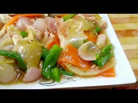 ৩ টি সবজি দিয়ে চিকেন চাইনিজ ভেজিটেবল রান্না Bangladeshi Chinese vegetables Recipe | Vegetables