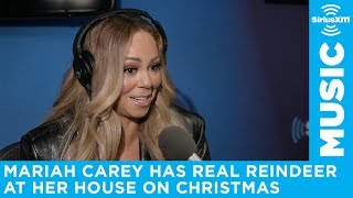 Mariah Carey has real reindeer come to her house on Christmas