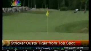 Stricker Ousts Tiger From Top Spot - Bloomberg