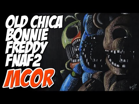 Drawing Old Freddy, Old Bonnie and Old Chica - FNAF2