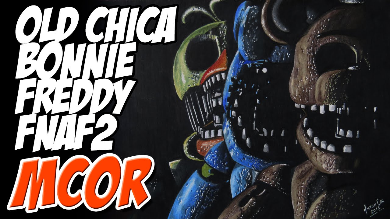 Fnaf 2 Drawings drawing old freddy, old bonnie and old chica - fnaf2