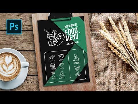 Cara Desain Menu Makanan Simpel - Hand Drawn Food Menu - Photoshop Tutorial Indonesia