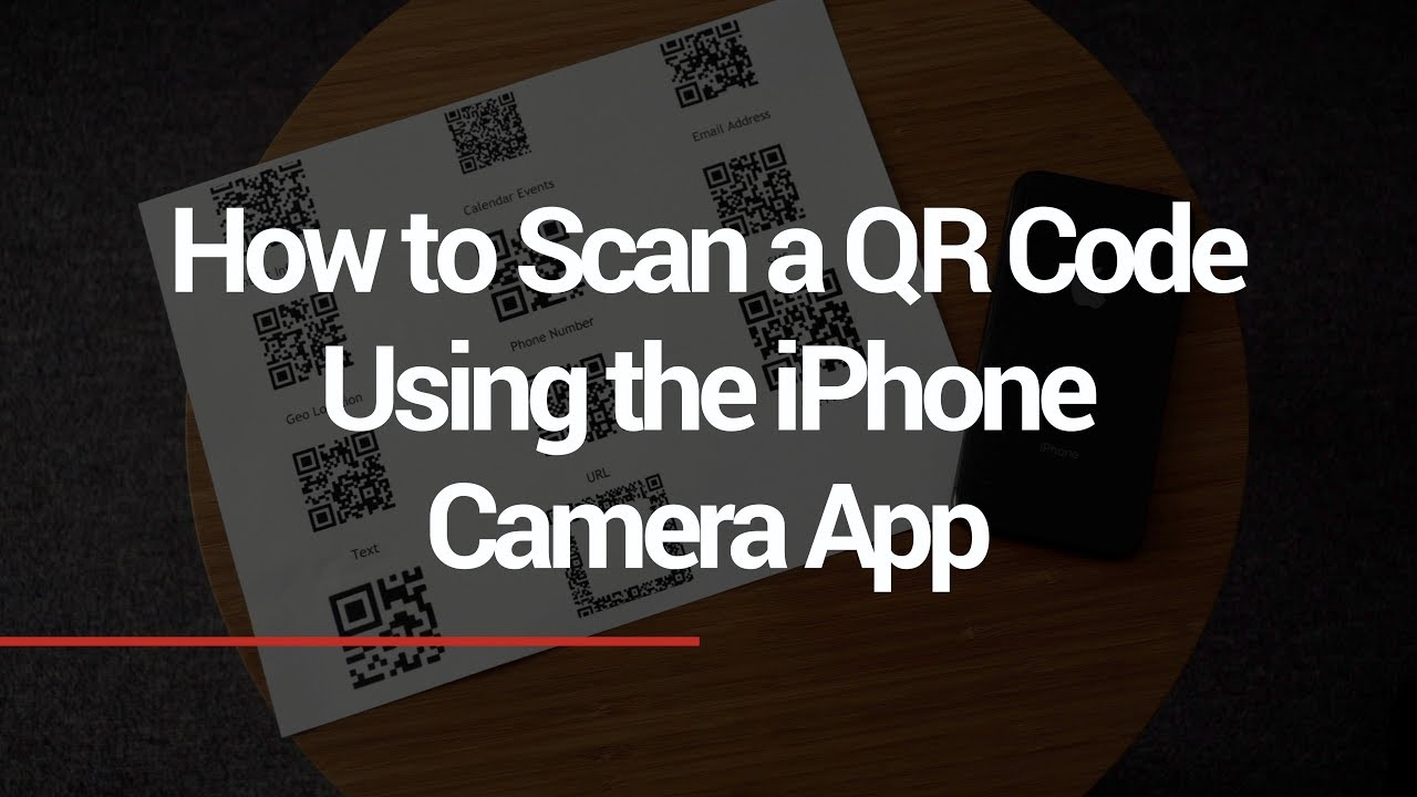 how do i scan a qr code with my iphone 8
