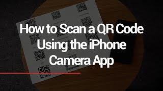 See how to scan a QR code instantly with iPhone - no additional software or app download necessary. .
