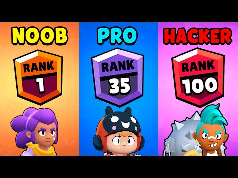 NOOB Vs PRO Vs HACKER - Brawl Stars