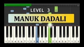 manuk dadali - nada piano tutorial grade 3 - lagu tradisional daerah / nusantara