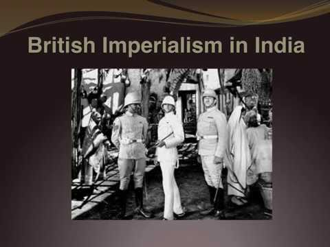 British Imperialism in India Positive and Negative sum