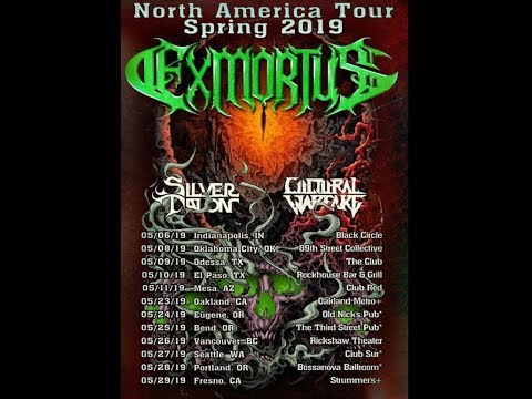 Exmortus tour w/ support from Silver Talon and Cultural Warfare..!
