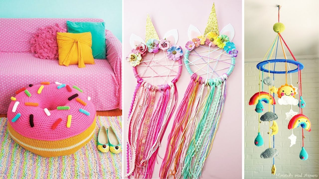 DIY Room Decor! 10 Easy Crafts At Home, Diy Ideas For