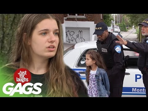 Little Girl Arrested for Selling Lemonade Prank - Just For Laughs Gags
