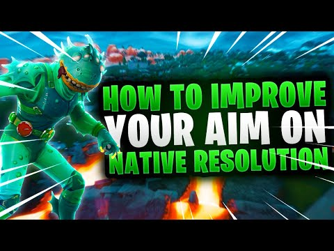 How to IMPROVE YOUR AIM On Native Resolution (Fortnite How To Aim Better) Console, Xbox, PS4, PC