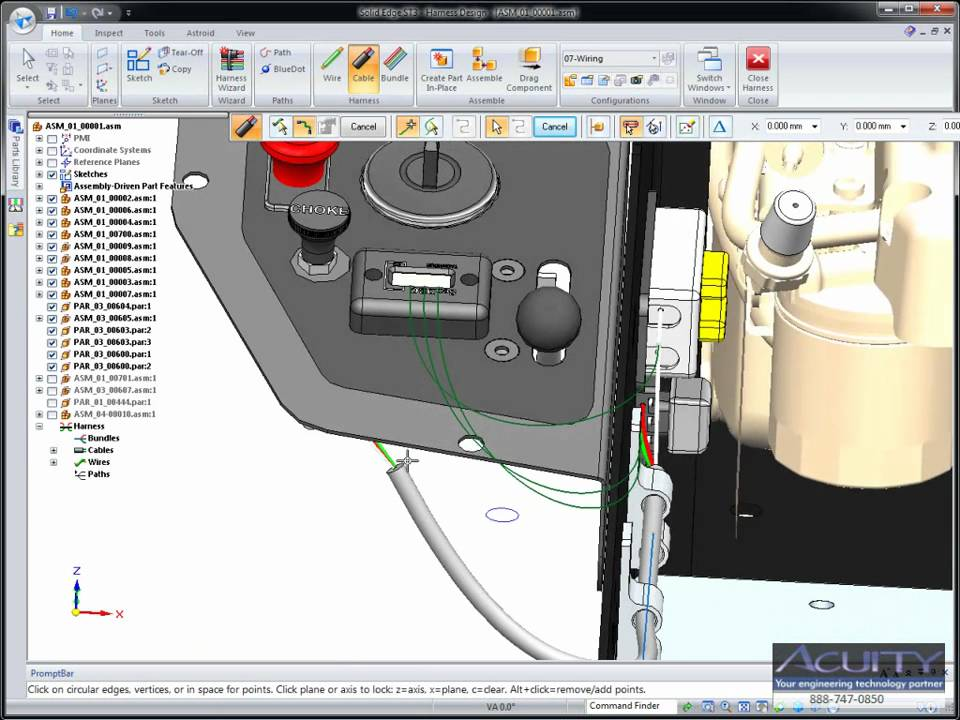 Acuity Solutions Inc Solid Edge Wire Harness Demo Youtube