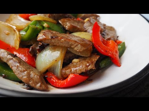 Stir-Fried Beef With Eco-friendly Peppers