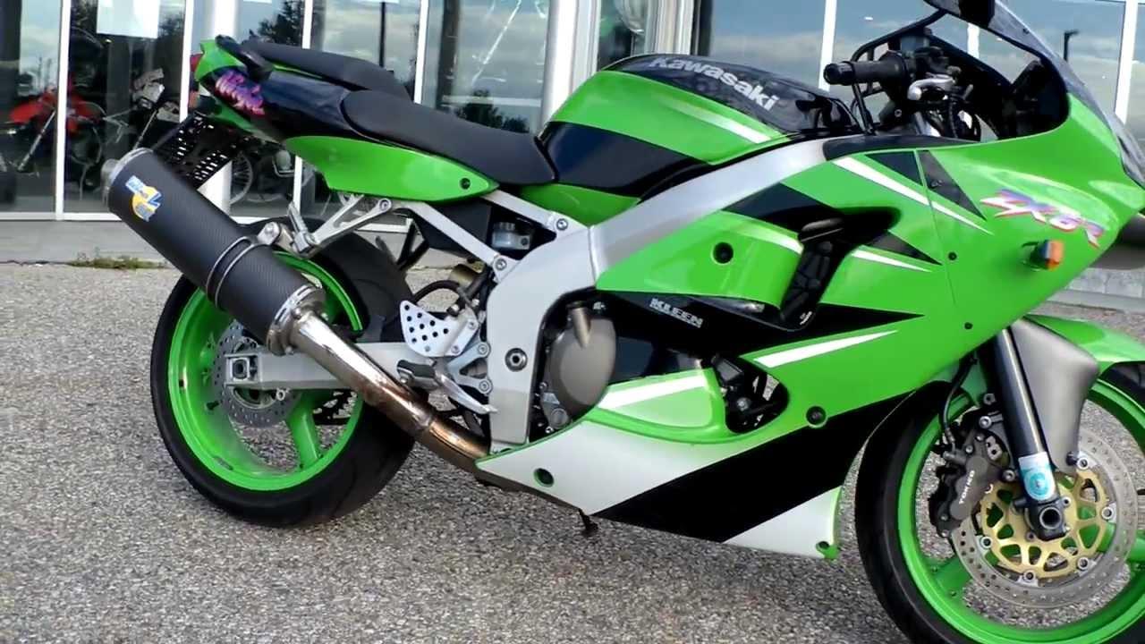 Kawasaki ZX6R Ninja Bj. 2001 mit Leo Vince Auspuff - YouTube