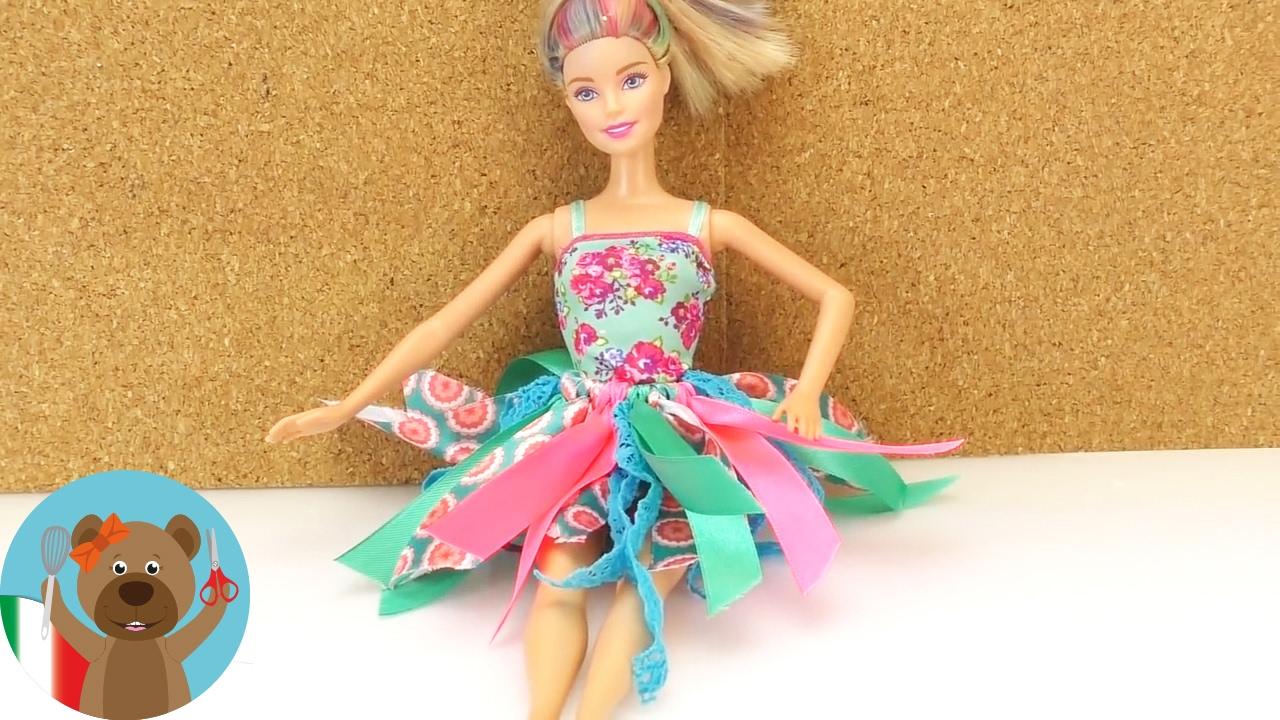 Gonna per Barbie senza cucire  587623f8ca8