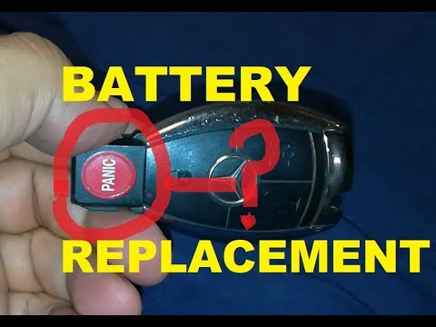 ️How To Replace Mercedes Key Fob Remote Battery (Complete ...