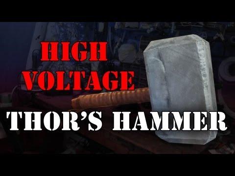 DIY high voltage Thors Hammer: Mjolnir at 80,000 volts