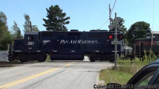 (HD) Chasing An Elephant Style Pan Am Freight Through Auburn, Maine 8-27-12 (Short Chase)