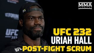 UFC 232: Uriah Hall Explains Emotional Post-Fight Speech About Sister - MMA Fighting