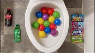 Will it Flush? - Coca Cola, Fanta, Sprite, Mirinda Balloons, Plastic Balls, Candy