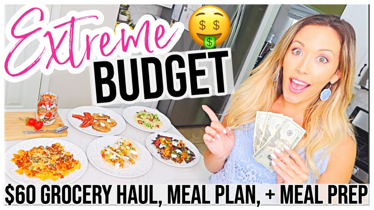 EXTREME BUDGET MEAL PREP + HEALTHY GROCERY HAUL @Brianna K Homemaking with me!