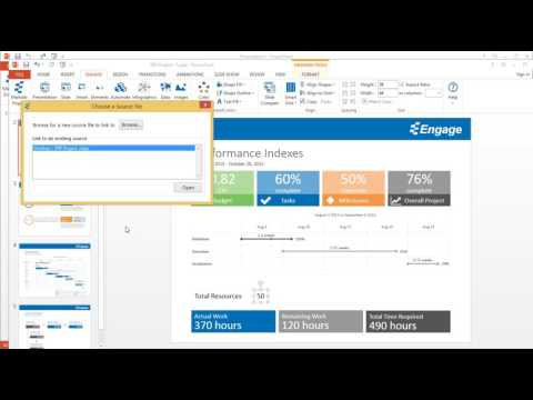 Automate your presentation with MS Project using the Engage PowerPoint add-in