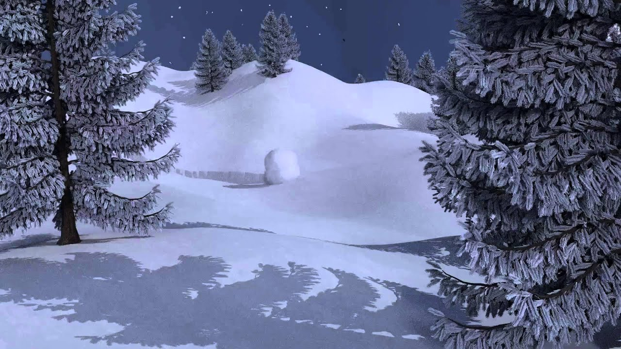 Winter Scene Snowball Animation In Blender Youtube
